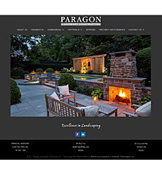 Paragon Landscape Construction Web Site