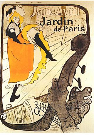Henri de Toulouse-Lautrec - Poster - Jane Avril 1893