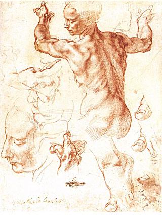 Michelangelo Buonarotti Study for the Libyan Sibyl - SistineChapel - 1508-1510