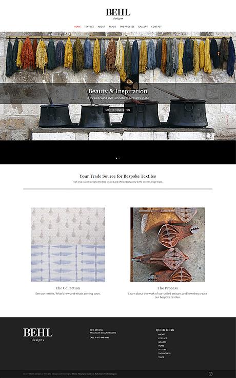 Behl Designs Web Site