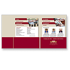 Millbury National Bank Presentation Folder with Step Sheets