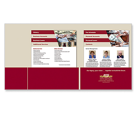Millbury National Bank Presentation Folder with Step Sheets